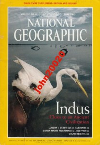 NATIONAL GEOGRAPHIC JUNE 2000.INDUS,DINOSAUR