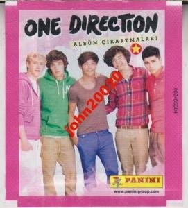 ONE DIRECTION.SASZETKA 5 NAKLEJEK.PANINI