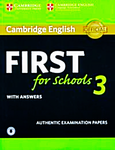 CAMBRIDGE ENGLISH FIRST 3 SCHOOL  ANSWERS AUDIO CD  (1)