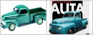 KULTOWE AUTA 16 FORD PICKUP 1951 FOLIA