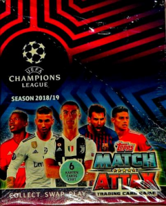 CHAMPIONS LEAGUE 2018/2019 BOX 30 SASZETEK 180 KART