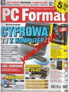 10/2012 PC FORMAT.CYFROWA TV Z KOMPUTERA+ CD