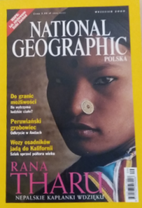 9/2000 NATIONAL GEOGRAPHIC POLSKA RANA THARU