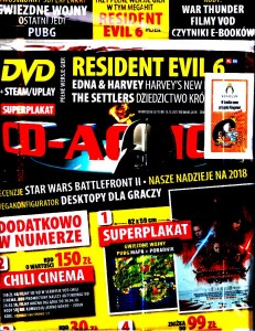 1/2018 CD ACTION DVD RESIDENT EVIL 6 EDNA +KODY