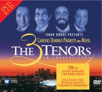 J CARRERAS P DOMINGO L PAVAROTTI Z MEHTA CD+DVD THE 3 TENORS IN CONCERT 1994