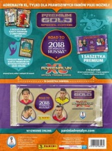 ROAD TO RUSSIA 2018 PREMIUM GOLD KARTY PANINI