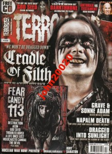 TERRORIZER 12/2012.GOD SEED,CRADLE OF FILTH+CD