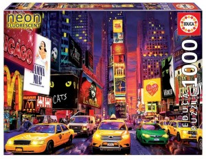 PUZZLE 1000 ELEMENTÓW TIMES SQUARE NOWY YORK NEON
