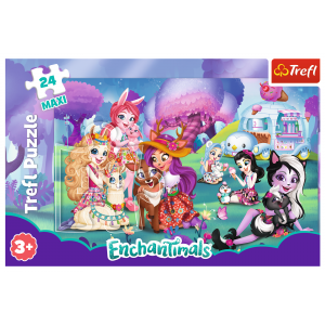 PUZZLE 24 MAXI WESOŁY ŚWIAT ENCHANTIMALS TREFL