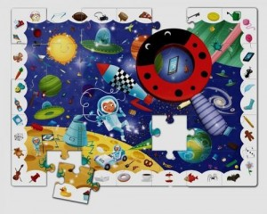 LUDATICA BABY DETECTIVE IN SPACE PUZZLE 35 ELEMENTÓW