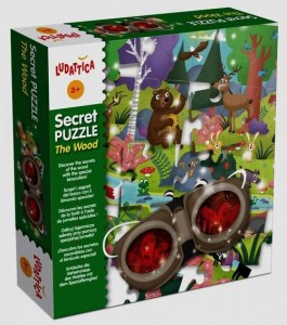 LUDATICA SECRET PUZZLE THE WOOD 24 ELEMENTY