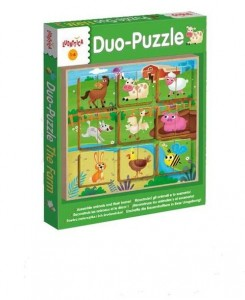 LUDATTICA LEGNO PUZZLE-DUO THE FARM