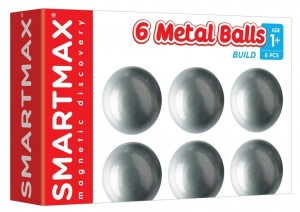 6 NEUTRAL BALLS METALOWE KULE MAGNETIC DISCOVERY