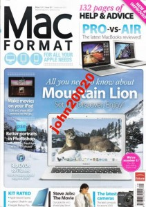 MAC FORMAT 9/2012.132 PAGES HELP & ADVICE,APPL
