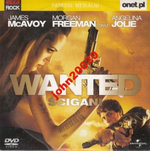 WANTED,ŚCIGANI.DVD.MCAVOY FREEMAN,JOLIE