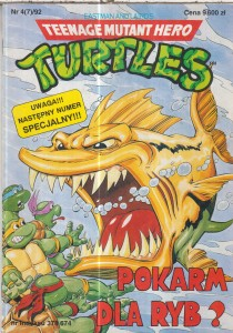 4/92 TURTLES TEENAGE MUTANT.POKARM DLA RYB