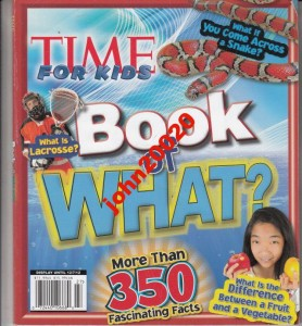 27/2012 TIME FOR KIDS.BOOK OF WHAT?