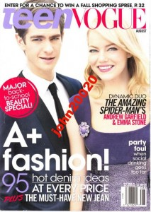 TEEN VOGUE 8/2012.GARFIELD STONE