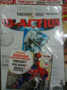 8/2015 CD ACTION.2 X DVD.SPIDER-MAN,TIMESHIFT