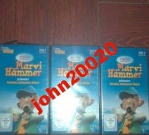 MARVI HAMMER 3 X DVD.NATIONAL GEOGRAPHIC WORLD