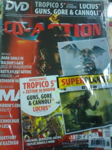 6/2016 CD ACTION.DVD.TROPICO 5,LUCIUS,GUNS GORE