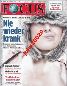 FOCUS 11/2012.MISSION FUR ISRAEL