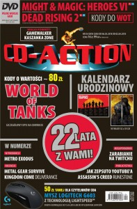 4/2018 CD ACTION MIGHT  MAGIC WORLD OF TANKS DVD KODY PELNE