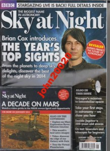 1/2014 BBC SKY NIGHT + CD DECADE ON MARS