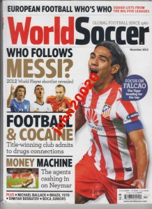 11/2012 WORLD SOCCER.MESSI NEYMAR BALLACK